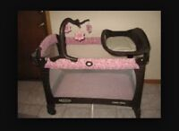 Graco pack & play.  Pink & Brown