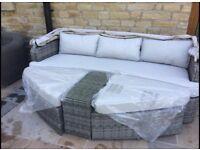 Rattan garden furniture (day bed/ cocoon)