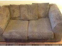 Beige jumbo cord 2 seater sofa