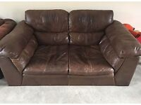2 Seater Leather sofa (chocolate brown) free