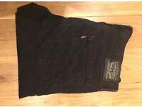 Original 522 Levi Jeans in black. W36 L32
