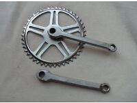 Vintage Fixie crankset 48T crank for single speed bike