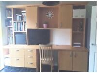 Large desk/ study / home office. Great storage