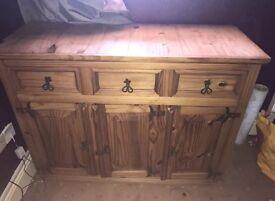 Solid oak large cupboard