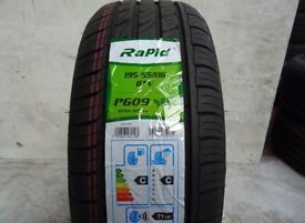 1 x TYRE NEW RAPID P609 195/55/16