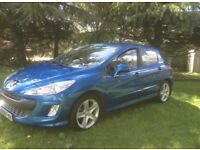 """2009 PEUGEOT 308 1.6 HDI SPORT MOTD TO JANUARY 17"""" ALLOY WHEELS DRIVES FIRST CLASS"""