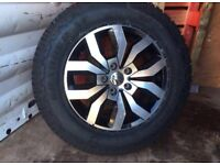 4 Amarok Grabber all terrain tyres with rims