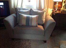 Stunning large duck egg blue chair from next