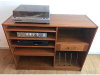 Vintage Teak HiFi Record Cabinet Made in Denmark 🇩🇰