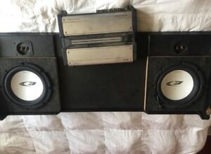 """2 10"""" subs amp And box"""