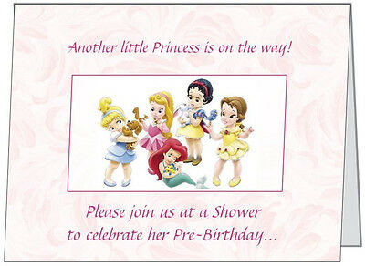 Disney Princess Baby Shower (UR WORDS Disney Princess BABY Girl SHOWER INVITATIONS Personalized Folded)