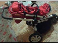 Quincy Buzz 3 Stroller (Rebel Red)