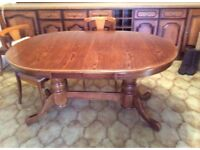 Solid oak table large
