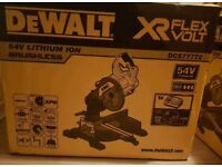 BRAND NEW IN BOX - DeWalt DCS777T2 54V Cordless Mitre Saw with 2x 6.0Ah batteries & charger