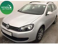 £175.04 PER MONTH SILVER 2012 VW GOLF 1.6 BLUEMOTION ESTATE DIESEL MANUAL