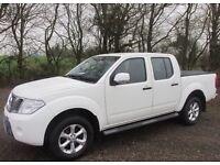 2012 Nissan Navara white double cab Acenta 2.5 dci diesel (no VAT)