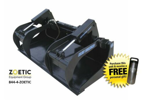 Blue Diamond Skid Steer Extreme-duty Grapple Bucket Attachment, 72""