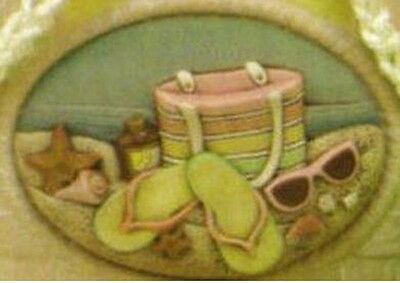 Ceramic Bisque Ready to Paint Beach Fun  insert ~FREE SHIPPING in USA