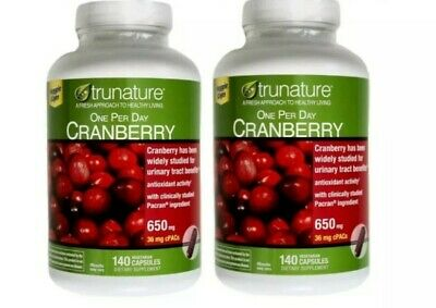 trunature CRANBERRY 650mg 2×140=280 Capsules  ☆Maintain Healthy Urinary -