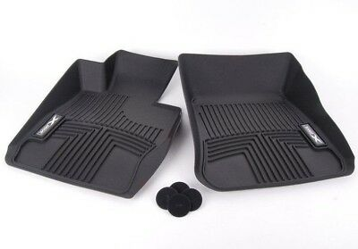 BMW Genuine E84 X1 Front All Weather Rubber Floor Mat Set Mats XDrive Black NEW