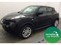 £184.14 PER MONTH BLACK 2012 NISSAN JUKE 1.5 TEKNA 5 DOOR MANUAL DIESEL