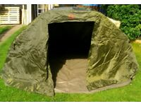 Bivvy with overwrap