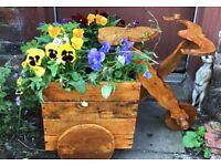 Wooden bike planter stunning