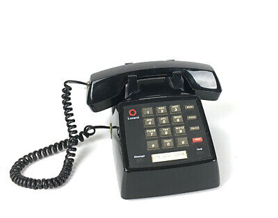 Lucent 2500 Dial Keypad Black 107732422 Single Line Telephone Works Retro Prop