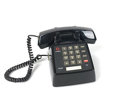 Lucent 2500 Dial Keypad Black 107732422 Single Line Telephone Works Retro Prop