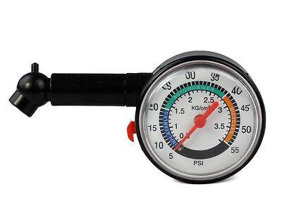 New Auto Motor Car Truck Bike Tyre Tire Air Pressure Gauge Dial Meter Vehicle