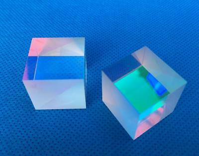 X-cube Edge Glass Square Dispersing Step Lens Beam Splitter Prism K9 2x2x2cm 2pc