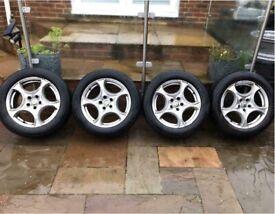 "17"" 5x110 Alfa Romeo Brera 159 Giulietta Alloy Wheels With Snow Winter Tyres"