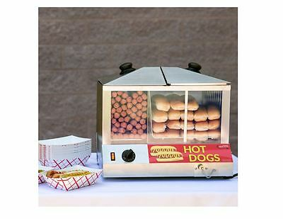 Electric Commercial Hot Dog Bun Steamer Machine - Concessions Catering Party