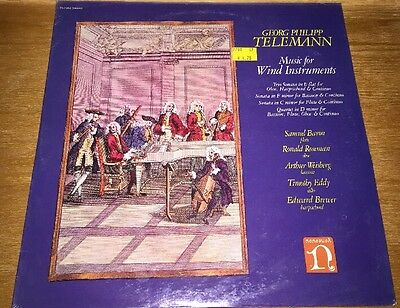 GEORG PHILIPP TELEMANN Music For Wind Nonesuch H-71352  Sealed Vinyl Record Mint
