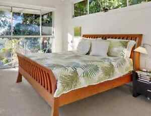 Timber Queen Sleigh Bed Frame Elanora Heights Pittwater Area Preview