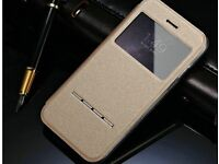 View Window Case iPhone 6 and 7 Flip Sliding Answer Ultra Thin