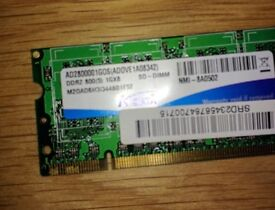 Notebook/Laptop memory upgrade 1 GB PC2-6400 (DDR2-800) 800 MHz SODIMM