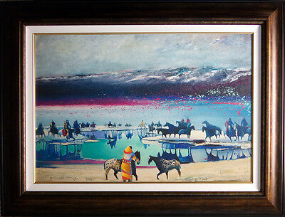 "Earl Biss ""Rideres at the Heardwaters of Yellowstone""#8 with Custom frame 24x 36 for sale  Aurora"