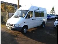 MERCEDES-BENZ SPRINTER 413CDI 9 SEATER EX POLICE RIOT BUS YOUR NEW DAY CAMPER MOTORHOME FSH NO VAT