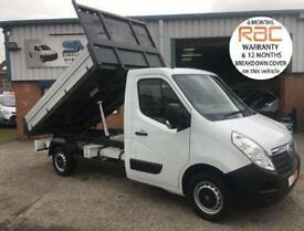 2016 16 VAUXHALL MOVANO F3500 CDTI LIGHTWEIGHT ALLOY TIPPER 125BHP VERY LOW 1500