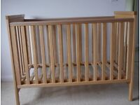 Mamas and Papas cot, changing table and under cot storage unit