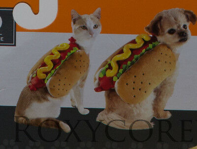Halloween Hot Dog w/Mustard Relish Pet Dog Costume Size XSmall up to 10 lbs