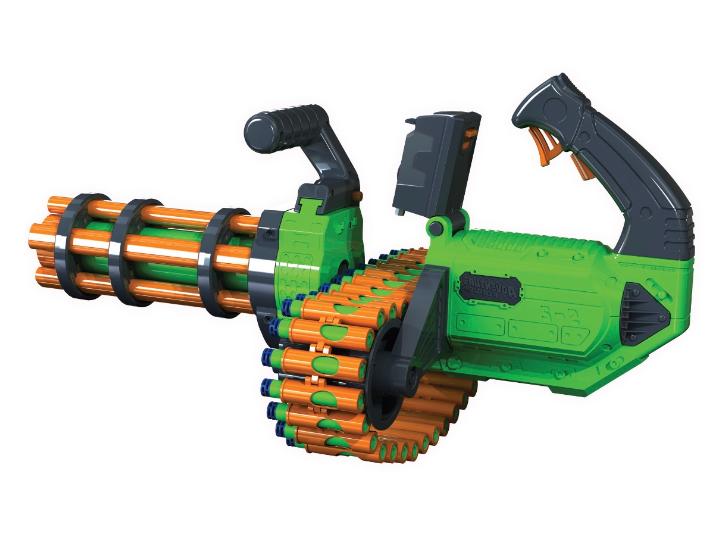 New Twin Motorized Gatling Belt Dart Blaster Foam Dart Nerf