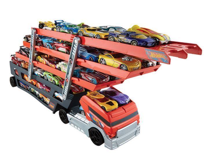 Hot Wheels Mega Hauler Truck Car Carrier Vehicle Transporter