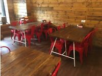 Restaurant Heavy duty table and chairs