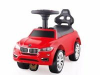 Foot to floor vehicle for children - luxury car in black, red&pink - ideal gift!