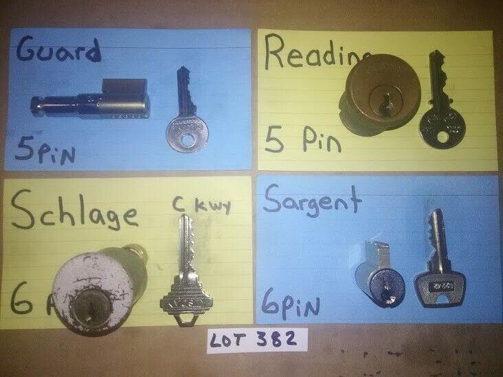 4 PCS. CHALLENGE LOCK CYLINDER SET; PICKERS, LOCKSPORT, LOT# 382