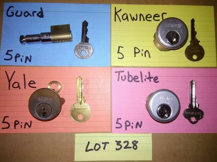 4 PCS. CHALLENGE LOCK CYLINDER SET; PICKERS, LOCKSPORT, LOT# 328