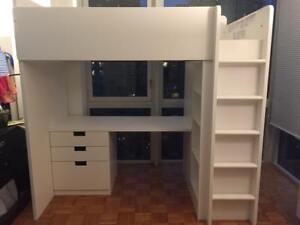 Stuva Loft bed with 4 drawers/2 doors $350