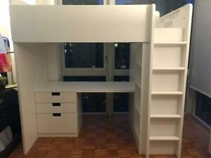 Kids Bunk Bed w Storage & Desk